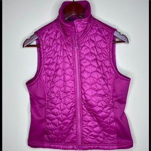 LL Bean Pink Quilted Vest Small